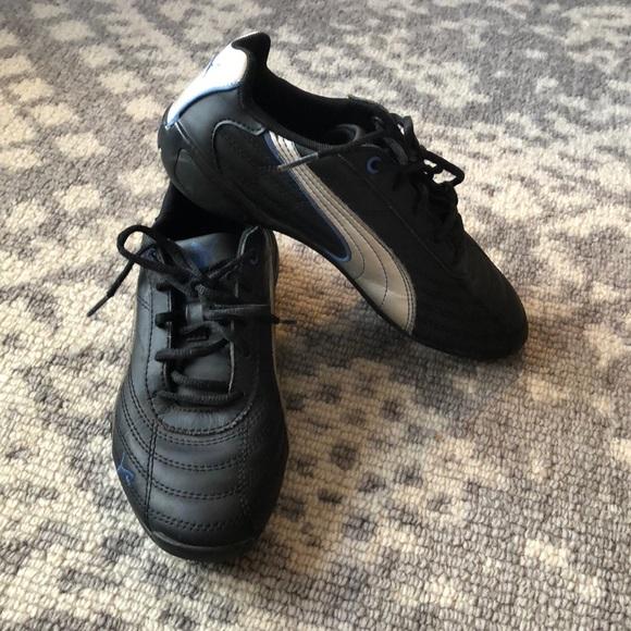 Boy's puma speed cat sneakers black size 2 GUC